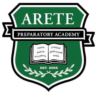 Great Hearts Arete Prep, Serving Grades 6-12 School Crest